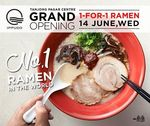 Ippudo - 1 for 1 Ramen at New Tanjung Pagar Branch Wed 14th June (Facebook Like Required)