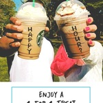 1 for 1 Offer on All Venti-Sized Drinks/Beverages at Starbucks (14th to 16th August, 3pm to 5pm)
