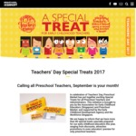 Special Treats for Preschool Teacher's from Free Shows to Discount Entries for 30/8-3/9