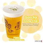 Free Cup of GCM Alisan Tea from Gong Cha (Far East Square) (Facebook Like/Instagram Follow Required)