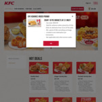 10pcs Nuggets for $1 at KFC Delivery ($40 Minimum Spend)