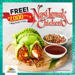 Free Nasi Lemak Chicken'O at Old Chang Kee (Selected Outlets)