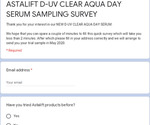 Free D-UV Clear Aqua Day Serum (SPF 50+, PA++++) Sample Delivered from Astalift