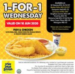 1 for 1 Fish & Chicken with Fries, Regular Drink & Nacho Cheese Sauce ($7.50) at Long John Silver's