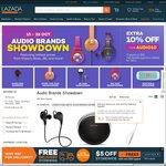 Lazada 'Audio Showdown Sale' - 10% off Audio Items