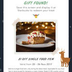 $1 off Food Items at Starbucks
