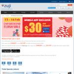 $30 off Mobile App or $25 off Website Flight Bookings (Minimum $300) @ ZUJI