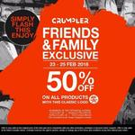 Crumpler Family & Friends Offer: 50% off All Products with Classic Logo