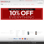 10% off Sitewide at SINGSALE
