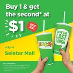 Buy 1 Drink & Get Another at $1 from Boost Juice Bars (Seletar Mall)
