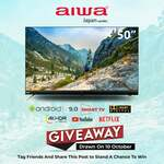 "Win a 50"" Android Smart TV from AIWA"