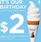 Hokkaido Milk Soft Serve for $2 at Baristart Coffee