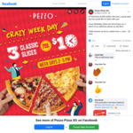 3 Classic Slices for $10 at Pezzo Pizza (Weekdays, 2pm to 4pm)