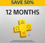 12 Month PlayStation Plus Subscription $26.90 (U.P. $53.80) @ PlayStation Store (New Subscribers Only)