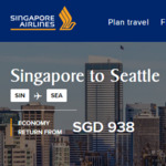 Return Non-Stop Flights to Vancouver $878, Seattle $938 on Singapore Airlines