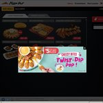 Pizza Hut Delivery Coupons - Free Delivery or Free Honey Roasted Wings with Purchases (Cheesy Bites Pizza/Double Box/Pasta)