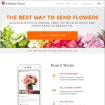$10 off Flower Delivery with A Better Florist