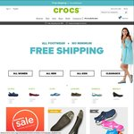 Free Shipping Sitewide at Crocs (No Minimum Spend)