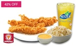Popeyes Set Meal (Garlic Rice, Chicken Tenders, Citrus Chilli Mayo & Nestea Green Tea) for $6.50 (UP $11.20) at Fave by Groupon