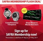 Free Watch or Pair of Shaw Movie Vouchers With SAFRA Membership Sign Up/Renewal (5 or 10 Year Ordinary/Associate Memberships)