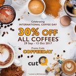 30% off Coffee Ordered Through cutQ