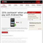 25% Rebate/Cashback (Capped at $10) on Android Pay Payments with DBS/POSB Cards