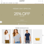 25% off Storewide at Esprit (Esprit Friends Members)