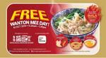 Free Mala Wonton Noodles at Hong Kong Sheng Kee Dessert (11.30am to 1.30pm, 10th October)