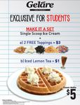 Classic Waffle for $5 at Geláre SG (Students)