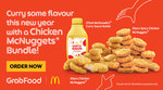 20x Spicy & 20x Regular Chicken Nuggets + 375ml Curry Sauce Bottle for $32.90 at McDonald's via GrabFood