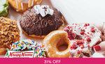 12 Assorted Doughnuts + 6 Original Glazed Doughnuts for $35.40 (U.P. $51) at Krispy Kreme via Fave