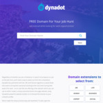 Free Domain Name for Job Hunters at Dynadot
