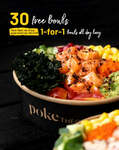 1 for 1 Poke Bowl at Poke Theory, Great World City