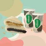 Jollibean Pancake Set - 2 Pancakes & 2 Soya Milk Drink for $5.90 at Shopee
