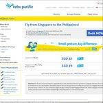Singapore to Philippines (Manila) from $85 via Cebu Pacific