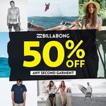 50% Off Any Second Garment at Billabong (Isetan Singapore - Katong and Tampines)