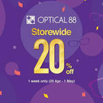 20% off Storewide on Sunglasses & Frames at Optical 88
