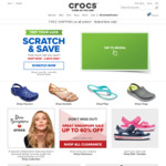 $30 off ($60 Min Spend), $20 off/$10 off ($50 Min Spend) Sitewide at Crocs