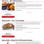 50% off All Mains at Fish & Co. via HungryGoWhere (Singtel Postpaid Customers)