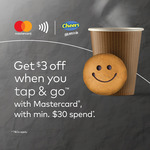$3 off ($30 Minimum Spend) at Cheers When You Tap and Go with Mastercard