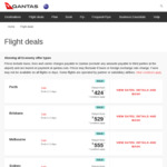Singapore to Brisbane $507 Direct Non-Stop Return on Qantas/Emirates