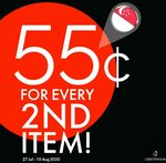 Every Second Item for $0.55 + Extra $20.20 with Every $100 Spent at Obermain