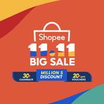 $30 off ($350 Min), $55 off ($600 Min), $70 off ($800 Min) or $110 off ($1200 Min) on Home Appliances at Shopee
