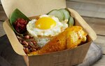 Nasi Lemak with Curry Chicken for $7.20 (U.P. $7.90) at Crave via Fave