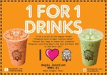 1 for 1 Drinks ($3) at Tuk Tuk Cha (10am to 5pm) [Bugis Junction]