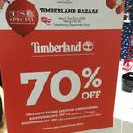 70% off + Extra 10% off with 2+ Items or 15% off with 3+ Items at Timberland (Takashimaya Shopping Centre)