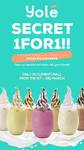 1 for 1 Milkshakes at Yolé (1st to 3rd March, Clementi Mall)
