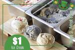 Scoop of Alcoholic Ice Cream for $1 at Creamery Boutique Ice Creams