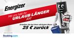 Get €25 (~$39 SGD) Cashback for Any Reservation of €100+ (~$154 SGD) @ Booking.com via Energizer Holidays