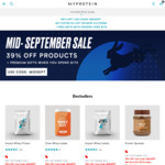 52% off Sitewide (No Min Spend) Plus Free Shipping ($100 Min Spend) at MyProtein